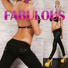 NEW SEXY WOMENS PANTS SIZE 8-10-12-14 LADIES HOT FAUX LEATHER CLUBWEAR FASHION