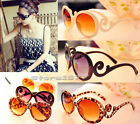 New Retro Women Cloud-shaped Arms Semi Round Sunglasses Q069