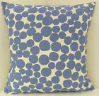 TRENDY NEW SINGLE BLUE WHITE SPOTTED  CUSHION COVERS  BLUE SPOTS PILLOW COVERS