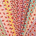 Roses and Spots Fabric 1 METRE 100% Cotton on Four Red, Blue, Green or Pink