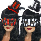 Burlesque Eye Mask + Hat Masquerade Halloween Fancy Dress Ladies Costume Set