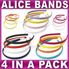 Pack of 4 Alice bands headband fabric hair band women girls 3 bright colour sets