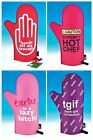 Novelty Cooking Chef Oven Mitts Sausage Caution Barbie Fabulous Gift Present