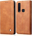 Fits Samsung Galaxy A9 Phone-Case Cover Premium PU Leather Magnetic Card Holder