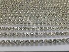 1 Meter AAA*Sparkling Clear Crystal Rhinestone Rope Chain 2.5mm, 3.25mm - 4.25mm