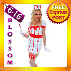 J90 Ladies Nurse Uniform Doctor Medical Fancy Dress Up Hens Party Costume Outfit