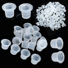 Small Medium Large SizeTattoo Ink Cups Caps Pigment Supplies Plastic