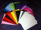 """10 4"""" x 4"""" CARD BLANKS WITHOUT ENVELOPES 240GSM (YOU CHOOSE COLOUR) 20+ COLOURS"""