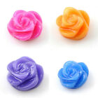20pcs Multi-Color  Resin Flatback Beads Flowers charms findings 8 mm