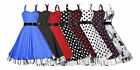 Ladies 40s 50s Vintage Style Halterneck Plus Size Swing Prom Dress New 18 to 26