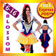J99 Deluxe Ladies Princess Snow White Fairy Tale Fancy Dress Halloween Costume