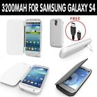 External Backup Battery Stand Flip Case Cover Power Bank Samsung Galaxy S4 i9500