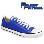 New Kids Blue All Star lo Converse Lace Up Canvas Casual Shoes Size Uk 12 13 1