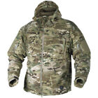 HELIKON TACTICAL SECURITY HOODED DOUBLE FLEECE COMBAT ARMY JACKET MULTICAM CAMO