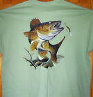 "WALLEYE Light Green T Shirt Sz SM - 5XL   Fishing Anglers  "" Fish Of The North """