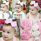 Baby Newborn Girls Rose Bow Lace Peal Headband Cute Toddler Hairband Headdress