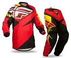 2015 Fly Racing F 16 Adult Mens MX ATV Jersey Pants Combo Red/Black ALL SIZES