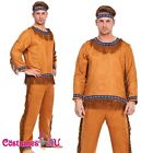 Mens Noble Warrior Native American Indian Halloween Fancy Dress Adult Costume