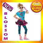 CK74 80s Valley Girl Pop Star TWEEN Girls Child Halloween Fancy Dress Up Costume