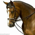 English Leather Draw Reins with Rope or Elastic Insert Top Quality Black & Brown