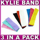 Set of 3 girls stretchy kylie band headband bandeaux hair band sports school new