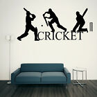 CRICKET WALL ART STICKER SPORT CRICKETERS GRAPHICS TRANSFER