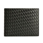 New Woven Genuine Leather Card Photo Billfold Section Slim Wallet Two For One