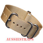 PREMIUM ZULU 5 Ring TAN SAND military diver's watch strap band NYLON new
