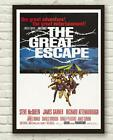 Vintage The Great Escape Movie Film Steve McQueen Poster Print Picture A3 A4