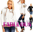 NEW SEXY 6-8-10-12-14 WOMEN'S JACKET HOODIE LADIES HOT TRENDY CASUAL OUTERWEAR