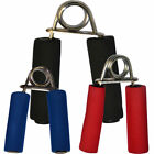 TurnerMAX Foam Padded Hand Gripper Pair Steel Coil Strength Muscles Exercise MMA