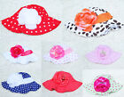 Cute Toddlers Infants Baby Girls Soft cotton Beanie Flower Sun Hat Cap