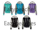 Weatherproof Ladies Womens Hooded Sweatshirt Varsity Jacket Vintage Jumper Hoody