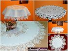 Round Table Runner Tablecloth  with Lace Dining Living Room Table Decorations