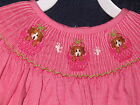 Girl Smocked LS Bishop 4 5 6 PUPPY in BASKET PUPPIES Dress New Vive La Fete