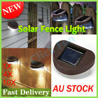 1/4/10X Solar 2 LED Fence Gutter Light Outdoor Garden Yard Wall Pathway Lamp AU