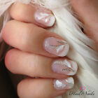 Feather Gold Silver Nail Wraps Nails Stickers Decal Y014 Salon Quality