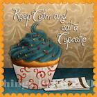 RETRO METAL PLAQUE :Keep Calm and Eat Cupcake sign/Ad