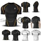 Mens Compression Short Sleeve Top Baselayer Skin | ALL TYPES AND COLOURS | Tesla