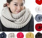 Hot  Women Men Korean 05 Warm Infinity 2 Circle Knitting Wool Blend Scarf  Wraps
