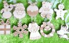 10 x wooden Christmas decoration, tree ornaments, engraved and personalised gift