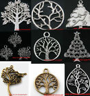 New Arriving Tone Tree Jewelry Findings Charms Pendant Retro Silver/Brass