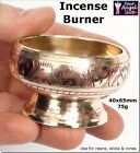 BRASS RESIN INCENSE BURNER or SET WITH BURNER, FRANKINCENSE 50g & CHARCOAL