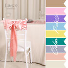 LiNg's 25 Pieces Satin Chair Cover Sashes Banquet Bow Wedding Party Decoration