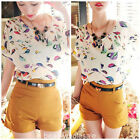 New Fashion  Graphic Print Batwing Dolman Chiffon Top Blouse Shirt