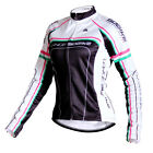 Sobike Women's Cycling Long Sleeve Fleece Thermal Long Jersey-Britney White