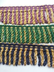 Blue Purple Green Gold Bullion Fringe Trim Upholstery Curtains Chunky 60 100 mm