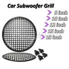 "Audio SubWoofer Speaker Grill Grille Protector Guard Cover 8"" / 10"" /12/15""/ 18"""