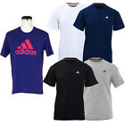 New Mens Adidas Crew Fitness Gym Sports Short Sleeves Tees T Shirts Tops Size Uk