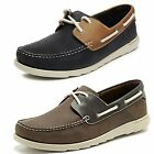 MENS CLARKS NUBUCK LACE UP CASUAL DECK BOAT SHOES RED RUTH DECK BROWN, NAVY G